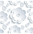 Background seamless pattern with grey flowers and vector image vector image