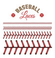 baseball laces pattern vector image vector image