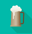 beer flat icon with long shadow eps10 vector image