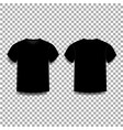 black men s t-shirt template v-neck front and vector image