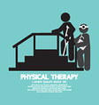 Black Symbol Physical Therapy vector image vector image