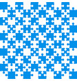 blue puzzle pieces - jigsaw - field chess vector image vector image
