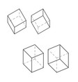 box technical 3d drawing orthographic view two vector image vector image