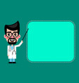 cartoon cute doctor with glasses smiling vector image