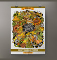 cartoon hand drawn doodles honey poster design vector image vector image