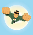 comic-like green super-hero vector image vector image