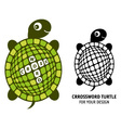Crossword turtle vector image