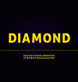 diamond alphabet font with letters and numbers vector image vector image