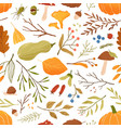 fall flat seamless pattern autumn vector image