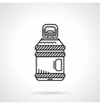 Flat line water bottle icon vector image