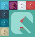flat modern design with shadow icons kozak vector image vector image