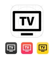 Flatscreen TV icon vector image vector image