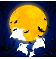 four friendly ghosts vector image vector image