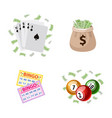gambling symbols - bingo playing cards jackpot vector image