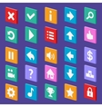 Game flat icons vector image vector image
