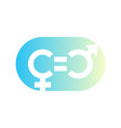 gender equity symbol icon sign on white vector image