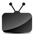 glossy television symbol vector image