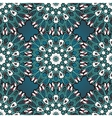 Green and blue mandala seamless vector image vector image