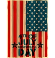 Grungy American Flag Background vector image vector image