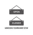 hanging signboard open closed icon simple flat vector image