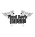 hard rock music icon monochrome vector image vector image