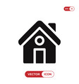 home icon house symbol vector image vector image