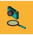 Icon of isometric technology design vector image