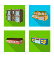 isolated object facade and housing symbol vector image