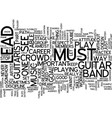 learn play lead guitar text background word cloud vector image vector image