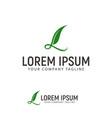 letter l leaf logo design concept template vector image vector image