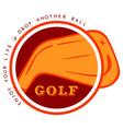 logo golf vector image
