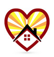 loving heart and home icon vector image vector image