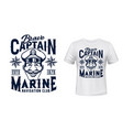 marine captain t-shirt print template vector image