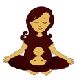 meditating mother vector image vector image