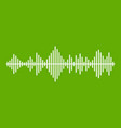 musical pulse icon green vector image vector image