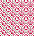 nordic diamond seamless pattern vector image vector image