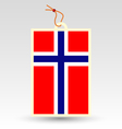 norwegian made in tag vector image vector image