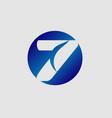 number 7 logo logotype design vector image vector image