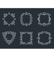 Outline monogram frames vector image