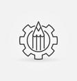 pencil in gear icon vector image vector image