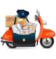 postal scooter vector image