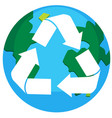 recycle earth logo on white background vector image