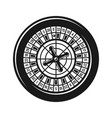 roulette wheel for casino gambling object vector image