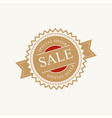 round vintage label sale vector image