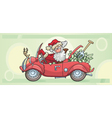 santa claus and money vector image vector image