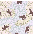 Seamless pattern with big funny bear in the meadow vector image vector image
