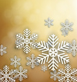 Set of golden christmas background vector image vector image