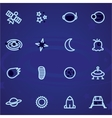 Set of icons and logos space stars vector image vector image