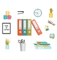 set office supplies vector image