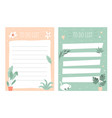 set to do check lists planners in a cute vector image